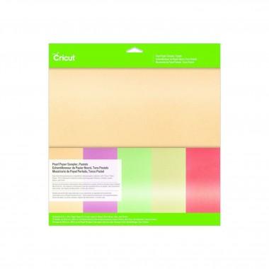 15 Hojas de Papel Aperlado Colores Pastel 12 x 12 pulgadas