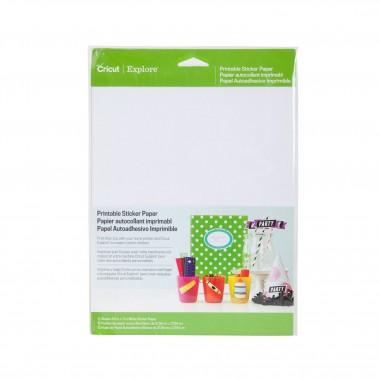 12 Hojas de Papel Adhesivo Imprimible Cricut 8.5 x 12 pulgadas