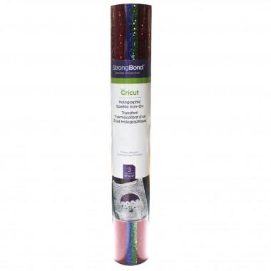 3 Hojas de Vinil Iron-on holografico Sparkle Primaria Cricut
