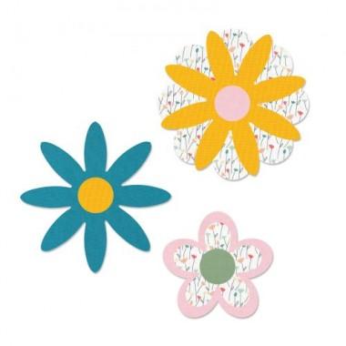 L- Sizzix Troquel Grueso Flores Capas M&G