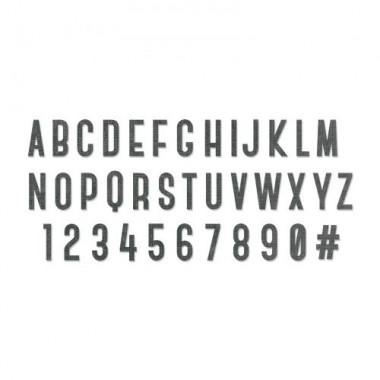 Troquel Grueso -XL- Alfabeto  Sizzix  Bigz