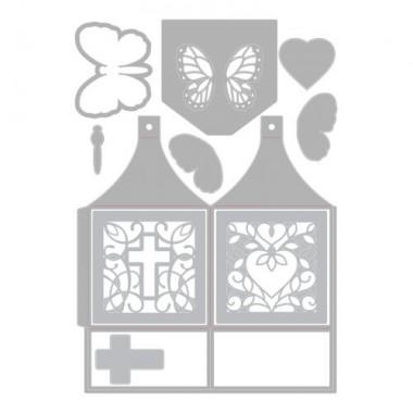 Troquel Delgado Caja Mariposa Sizzix  Lynda Kanase 10 Piezas