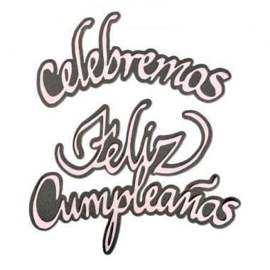 Sizzix Troquel Delgado Celebramos Feliz Cumpleaños 4 Piezas