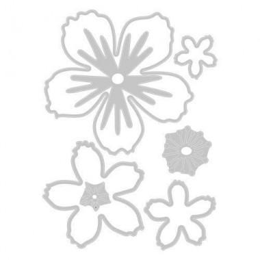 Troquel Delgado Floral Sizzix  Jen Long 7 Piezas