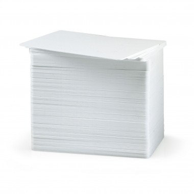 Paquete de 100 tarjetas de PVC blancas