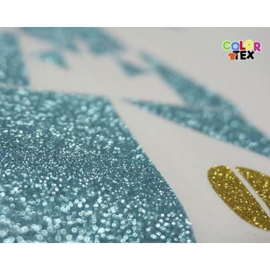 Metro de vinil textil brillante con acabado Glitter Colortex®