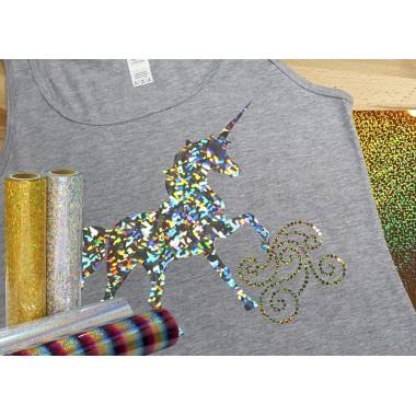 Metro de vinil textil con acabado tornasol Colortex® Holográfico