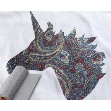 Metro de vinil textil suave con destellos de diamantina Colortex Soft Glitter