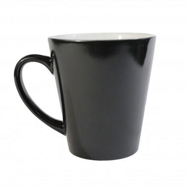 Taza latte mágica color negro para sublimación