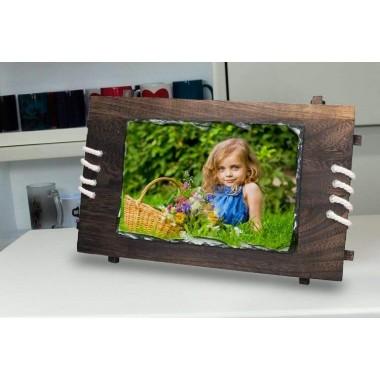 Portaretratos rectangular con marco Sublimarts 18x26 cm