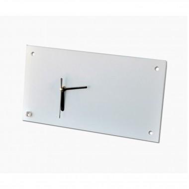 Reloj Rectangular de vidrio para sublimación