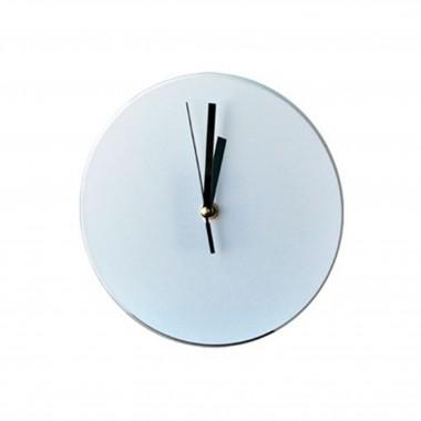Reloj Redondo de vidrio para sublimación