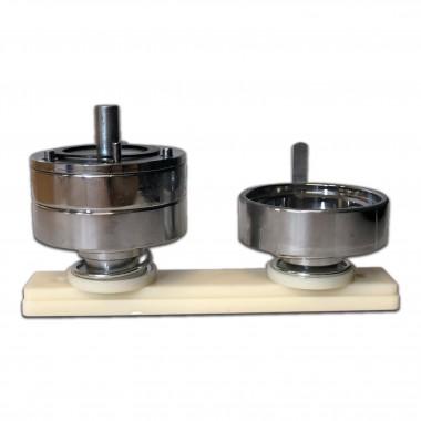 Molde de máquina para fotobotón con perforación de 58 mm