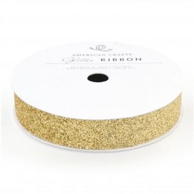 Listón dorado glitter