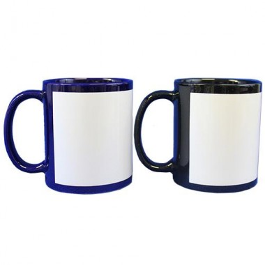 Taza de color con ventana blanca Sublimarts