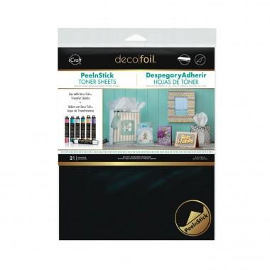 2 Hojas Toner Adhesivas Deco Foil 8 x 10.5 pulgadas