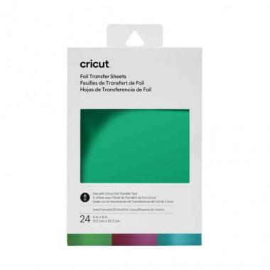 """Muestrario de hojas de transferencia Cricut Foil Jewel 4X6"""" (24 Piezas)"""