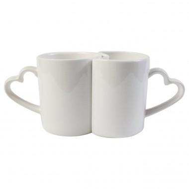 Tazas blancas pareja para decoración con sublimación