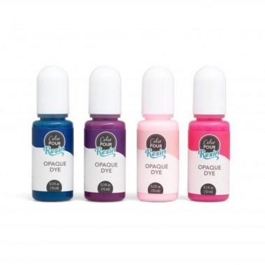 Set de Tintas opacas para Resina Colores Berry Color Pour (4 pz)