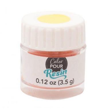 Polvo Reactivo a Calor Naranja-Amarillo Para Resina Color Pour