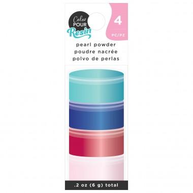 Polvo Aperlado Translúcido de Colores para Resina Color Pour