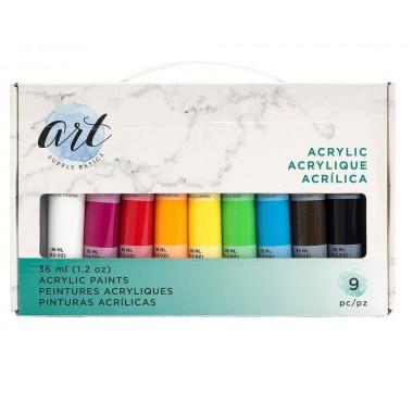 Set de pintura acrílica de 36ml (9 piezas)