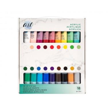 Set de pintura acrílica de 36 ml (18 piezas)