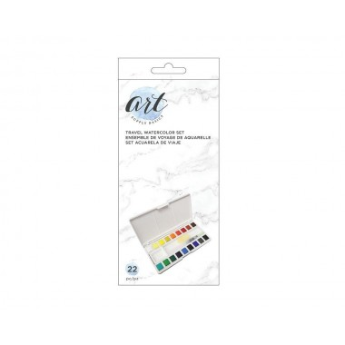 Set de pintura acuarela kit de viaje (22 piezas)