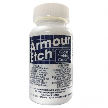 Botella de Pasta para Esmerilar Cristal Armour Etch 10 oz