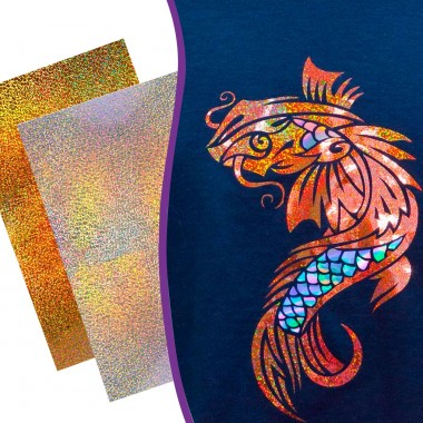 Hoja de Vinil Textil Siser Holográfico 30 cm x 50 cm
