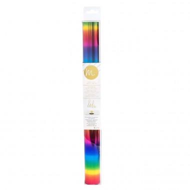 """Papel Foil Minc Arcoíris 12"""" para impresión láser"""