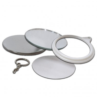 Fotobotón llavero espejo de 58 mm