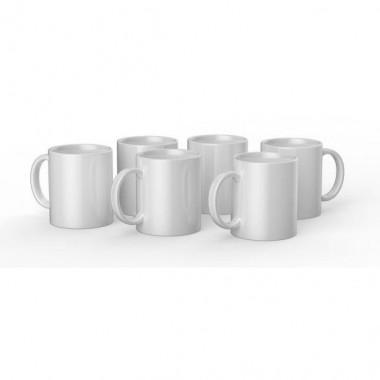 Tazas de cerámica blancas Cricut de 12 oz / 340 ml (6 pz)