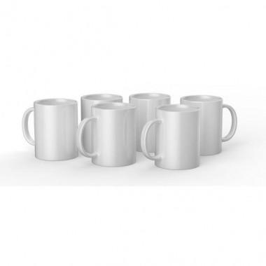 Tazas de cerámica blancas Cricut de 15 oz / 425 ml (6 pz)