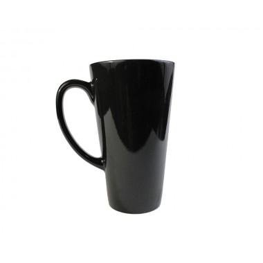 Taza tipo latte mágica de color negro para sublimación SublimArts de 17oz