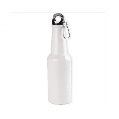 Botella blanca de aluminio tipo cerveza 400ml SublimArts
