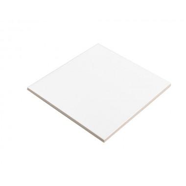 Placa de azulejo de cerámica blanco de 15 X 15 cm Sublimarts
