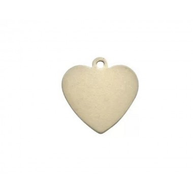 Placa de perro en forma de corazón de 2.8 cm Sublimarts