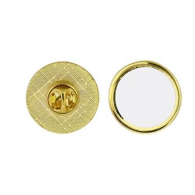 Pin dorado circular de 2.5 cm Sublimarts