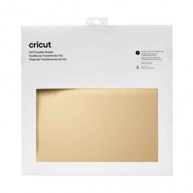 """Hojas de transferencia Foil Cricut Oro 12x12"""" (8 Piezas)"""