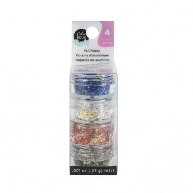 Escamas de lámina reversibles Color Pour para decoración