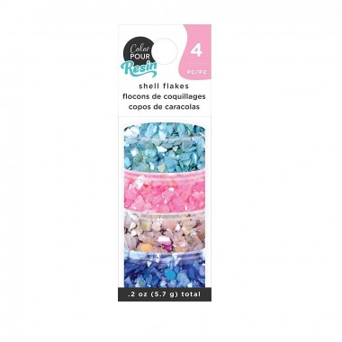 Escamas de Concha Iridiscente Color Pour para decoración