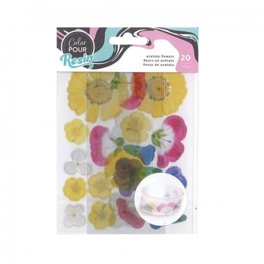 Flores de acetato Color Pour para decoración