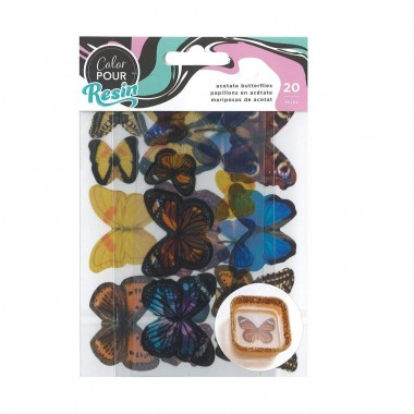 Mariposas de acetato Color Pour para decoración