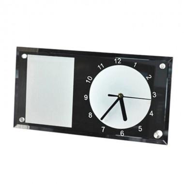 Reloj Rectangular de vidrio espejo para sublimación