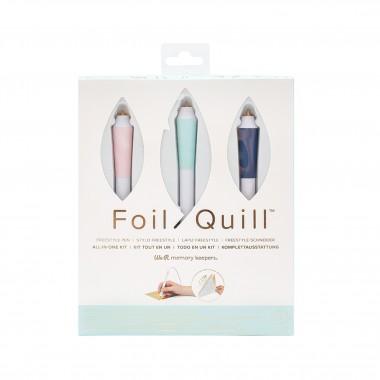 Pluma de Calor Manual 3 en 1 Kit de Inicio Foil Quill para Acabados Metálicos