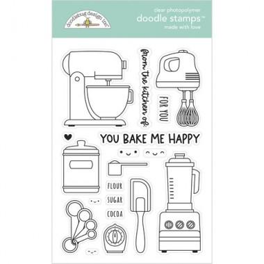 Sellos de Goma Prediseñados Made With Love Doodlebug Doodle Stamps