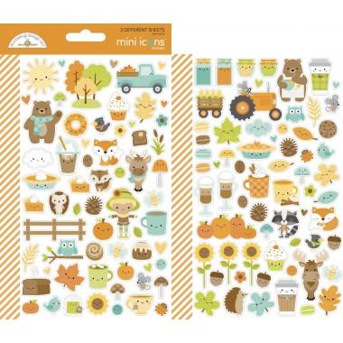 Calcomanías decorativas Mini Icons Stickers Pumpkin Spice Doodlebug