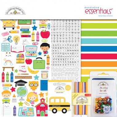 Kit de Esenciales para Scrapbook School Days Doodlebug