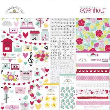 Kit de Esenciales para Scrapbook Love Notes Doodlebug